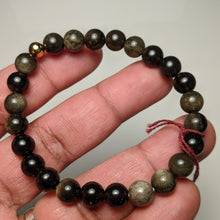 Load image into Gallery viewer, Gold Sheen Obsidian bracelet - small