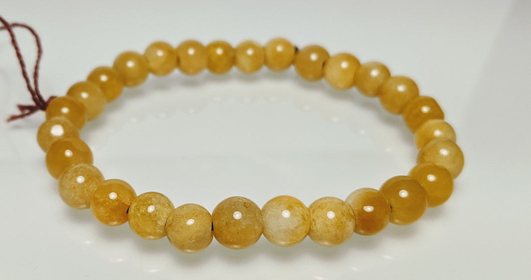 Yellow Jade Bracelet, natural Jade