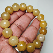 Load image into Gallery viewer, Yellow Jade Bracelet, natural Jade