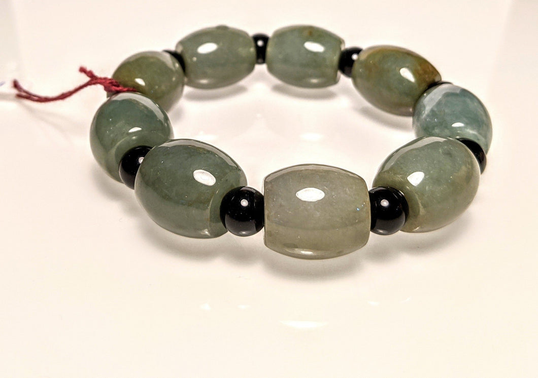PREMIUM COLLECTION - JADE BARREL BRACELET - BIg