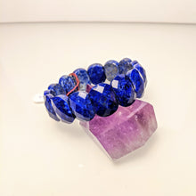 Load image into Gallery viewer, PREMIUM COLLECTION - Royal Lapis Lazuli gem cut bracelet
