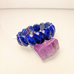 PREMIUM COLLECTION - Royal Lapis Lazuli gem cut bracelet