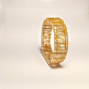 PREMIUM COLLECTION - Golden Rutilated Quartz CUFF Bracelet