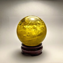 Load image into Gallery viewer, Crystal collection - Citrine sphere / Golden Citrine on stand