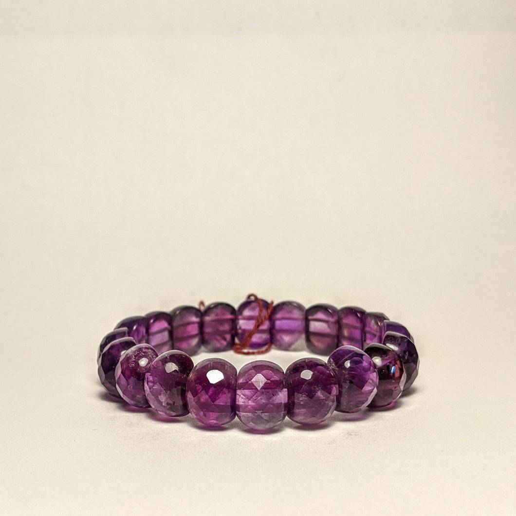 Amethyst bracelet -  Gem cut natural Royal Amethyst