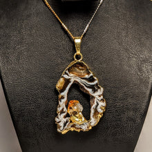 Load image into Gallery viewer, Citrine and fire Agate Pendant