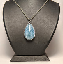 Load image into Gallery viewer, Aquamarine Pendant - Silver casing