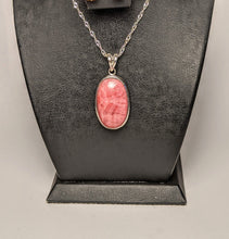 Load image into Gallery viewer, Rhodochrosite pendant -Silver casing