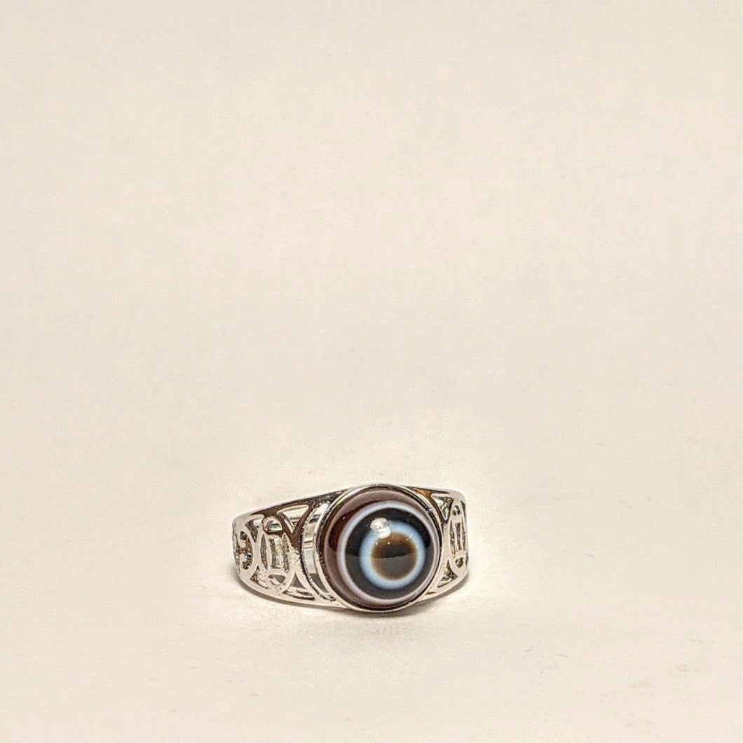 Eye Agate Silver ring