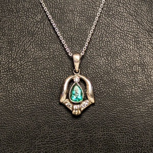 PREMIUM COLLECTION - Natural untreated Emerald Pendant