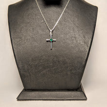 Load image into Gallery viewer, PREMIUM COLLECTION - Natural Emerald Holy Cross Pendant