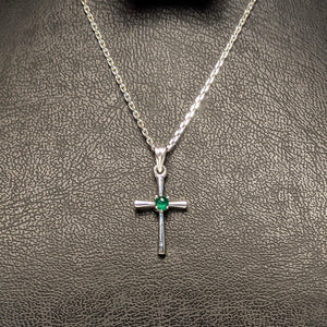 PREMIUM COLLECTION - Natural Emerald Holy Cross Pendant