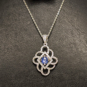 PREMIUM COLLECTION - Natural untreated Blue Sapphire Pendant