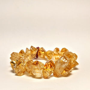 PREMIUM COLLECTION - HIGH FREQUENCY RAW CITRINE BRACELET/ Golden Citrine
