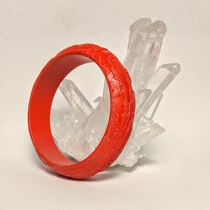 Cinnabar Dragon and Phoenix bangle -AKA  Dragon's blood bracelet