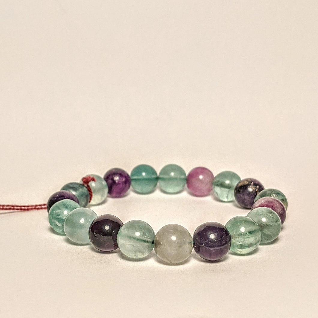 Multi color Fluorite bracelet