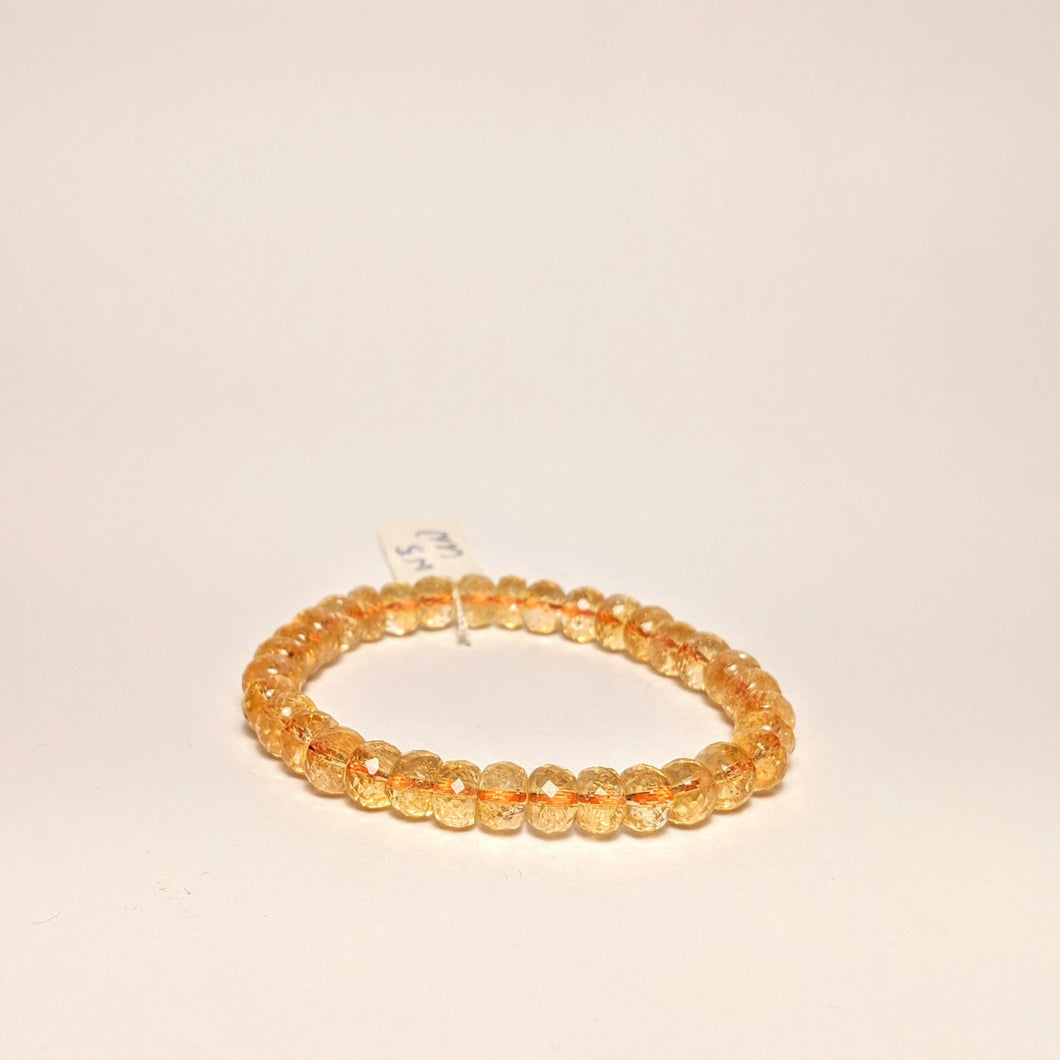 PREMIUM COLLECTION - High frequency Citrine Bracelet- Gem cut