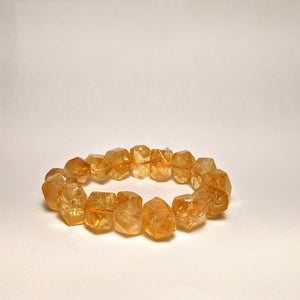 PREMIUM COLLECTION - High frequency Citrine Bracelet - Organic raw shape