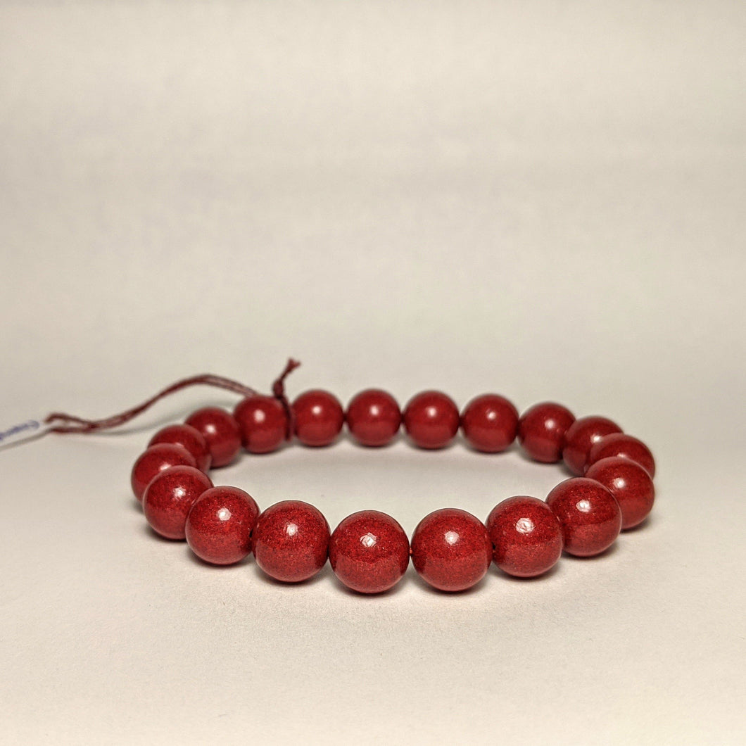 Cinnabar bracelet - AKA  Dragon's blood bracelet - large