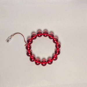 PREMIUM COLLECTION - Red Amber bracelet - large