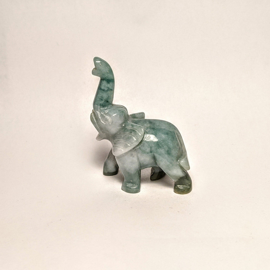 Jade Elephant statute  -Crystal Collection / Handmade