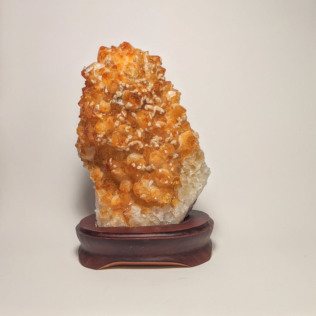 Crystal collection - Citrine Geode on stand / Natural Golden Citrine on stand