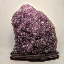 Load image into Gallery viewer, Rutilated Amethyst Geode on stand - Crystal Collection / Natural Royal Amethyst