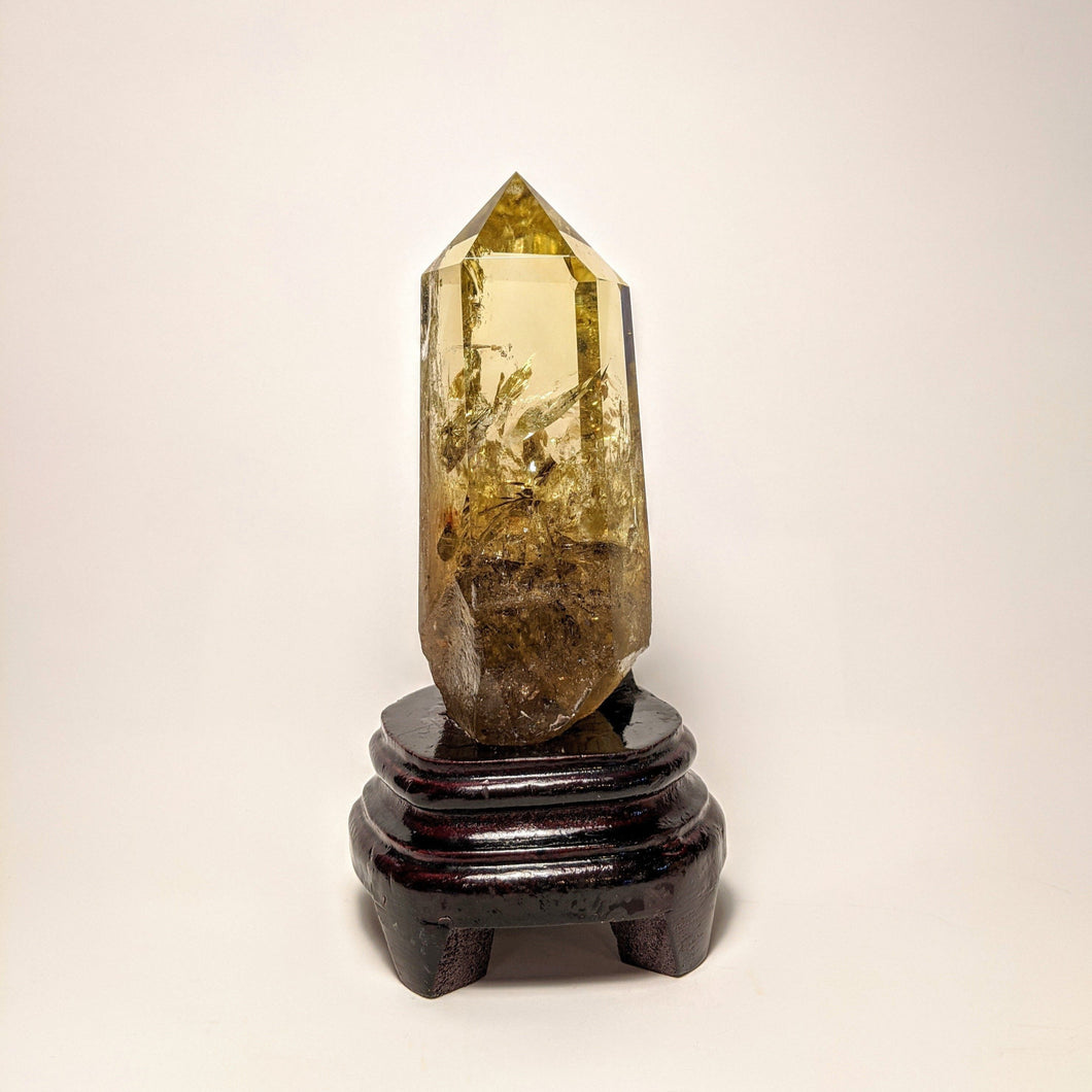 Crystal collection - Citrine point on stand / Natural Golden Citrine on stand