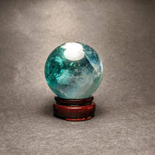 Load image into Gallery viewer, Fluorite Quartz Sphere  / green Fluorite- Crystal Collection