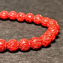 Load image into Gallery viewer, Rose cut Coral bracelet - natural Coral