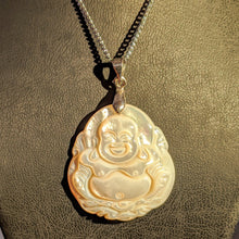 Load image into Gallery viewer, Natural Mother of Pearl Happy Buddha - Pearl necklace pendant