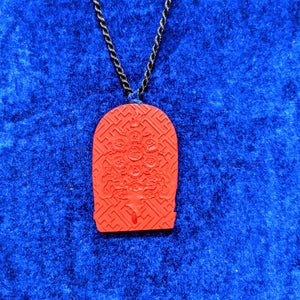 Cinnabar Buddha pendant - AKA  Dragon's blood