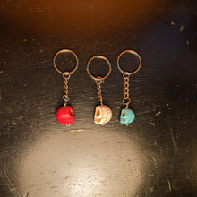 Load image into Gallery viewer, Turquoise skull Key Ring - Crystal Collection