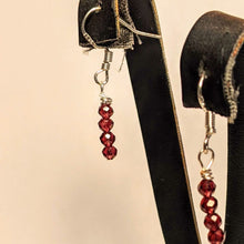 Load image into Gallery viewer, PREMIUM COLLECTION - Ruby Sterling Silver earrings