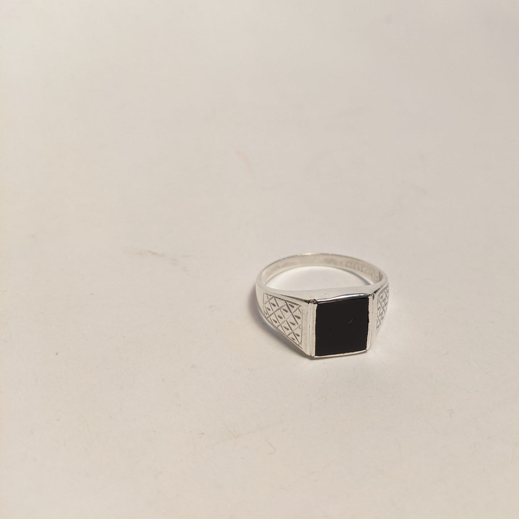 American Onyx ring / Sterling Silver handmade ring