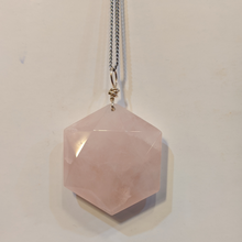 Load image into Gallery viewer, Rose Quartz Star pendant