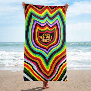 anti bad vibe shield towel