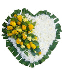 Executive yellow-white heart wreath