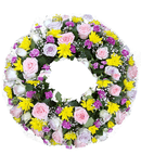 Luxury rose round wreath