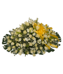 Classic white and green casket(yellow ribbon)