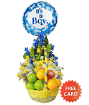 Ballooned combo flower basket