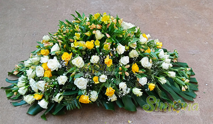 Deepest sympathy funeral flowers by Simona Flowers