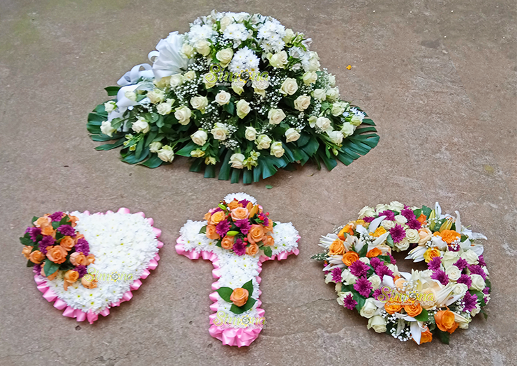 Exquisite funeral set by Simona Flowers