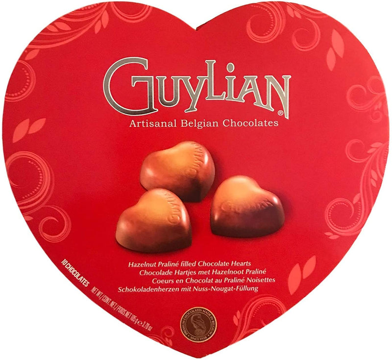 Guylian heart shape artisanal Belgian chocolates by Simona Flowers - For Birthdays, anniversary, love and romance or any occasion