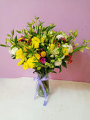 Happy mama flower vase bouquet