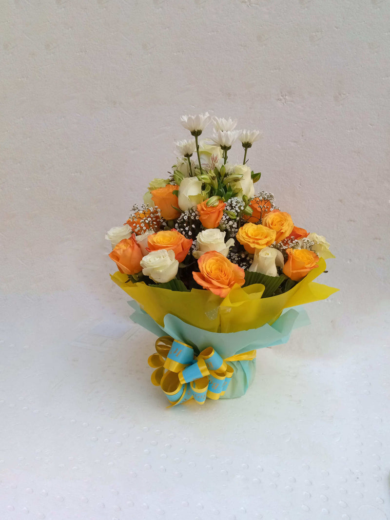 He's amazing bouquet for new born by Simona Flowers