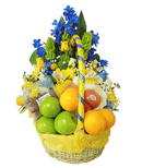 Lovely day combo Flower and fruit basket