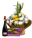 Milestone combo Water bouquet chocolate and wine
