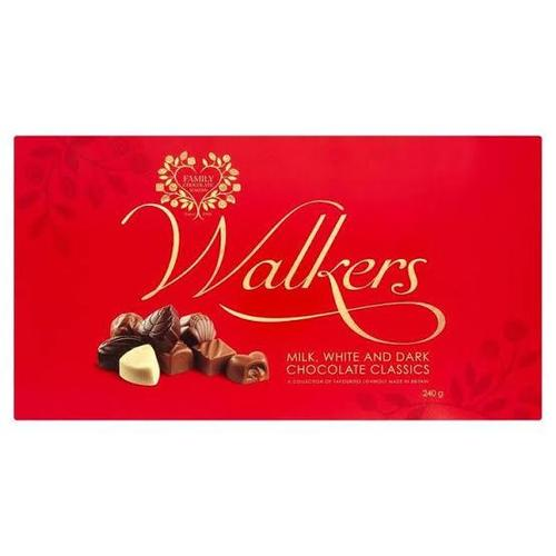 Walkers milk, white and dark classics 240g - Simona Flowers