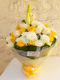 Best Day flower water  bouquet arrangement by Simona Flowers
